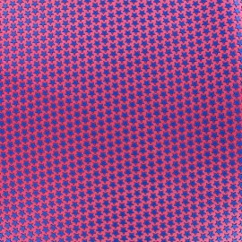 Tissu satin impression gomme Stars (laize : 42 cm) - bleu/grenadine x 10cm