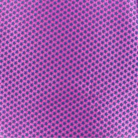 ♥ Coupon de tissu 42 cm X 42 cm ♥ Tissu satin impression gomme Stars (laize : 42 cm) - bleu/fuchsia
