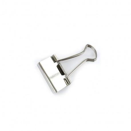 Pince double clip - argent