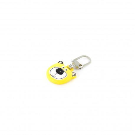 Zipper pull Teddy Bear - yellow