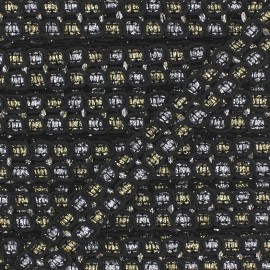 """Retro"" Lace-making Braid trimming Ribbon 15 mm - black/metal x 1m"