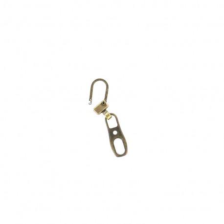 Zipper pull Kira- old gold