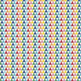 Tissu Crayola Color Me Triangle Blanc x 10 cm