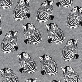 Poppy Jersey Zebra - Multi x 10 cm