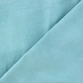 ♥ Coupon 35 cm X 145 cm ♥  Melda Milleraies velvet fabric - light blue 200gr/ml