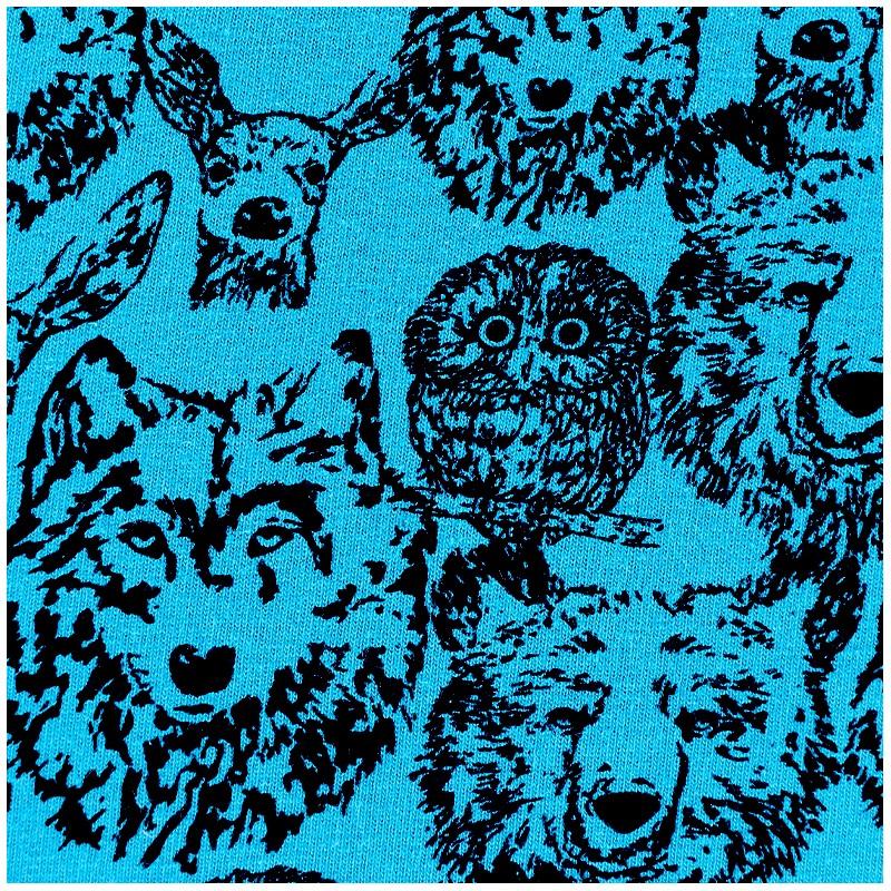 3b08063f74d Poppy jersey fabric Forest Animals - blue x 10cm - Ma Petite Mercerie