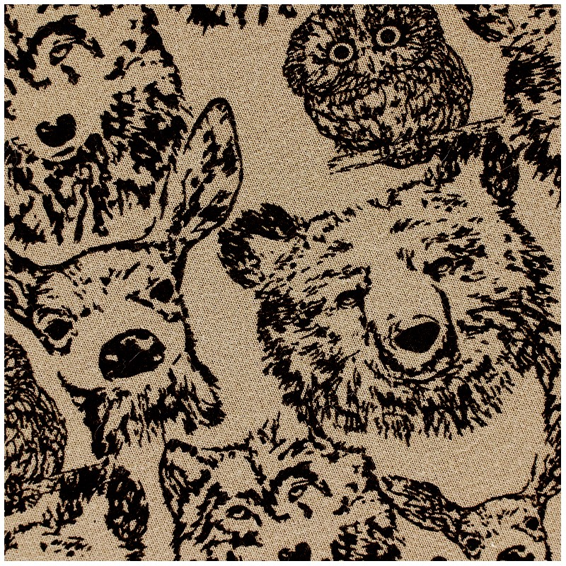ded6f4c9a37 Poppy jersey fabric Forest Animals - brown x 10cm - Ma Petite Mercerie
