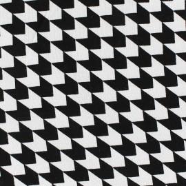 Poppy  Jersey Fabric Defining Lines - black x 10 cm