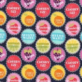 Tissu Pop top diet - blueberry x 10cm