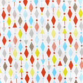 Tissu double gaze de coton Cosmo - multi bright x 10 cm
