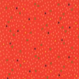 Tissu Droplets - orange x 10cm