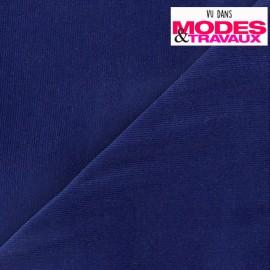 Tissu velours milleraies Melda 200gr/ml bleu roi x10cm