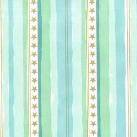 Tissu Stars and stripes - aqua x 10cm