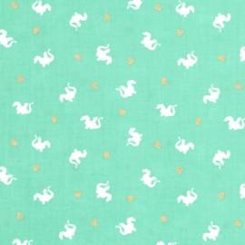 Tissu Baby Dragon - turquoise x 10cm