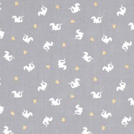 ♥ Coupon 250 cm X 110 cm ♥  Tissu Baby Dragon - gray