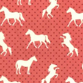 Tissu Pony Up - red x 15 cm