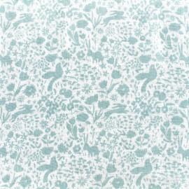 Tissu double gaze de coton Shadow Garden - mist x 10 cm