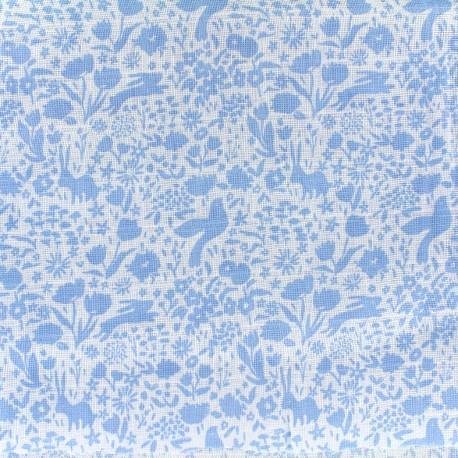 Double Gauze Fabric Shadow Garden -  blue x 10 cm