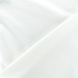 Short velvet fabric Bradford - white x 10cm