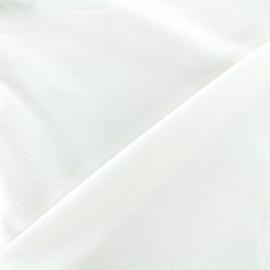 Tissu Velours ras Bradford - blanc x 10cm