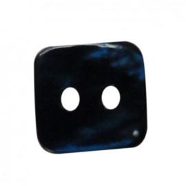 Bouton nacre carré marine 12 mm