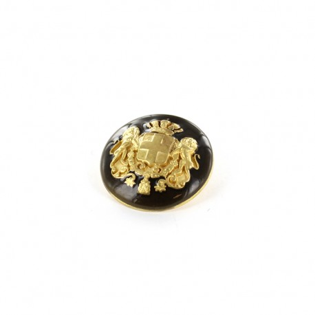 Bouton métal Armoiries - or/bronze