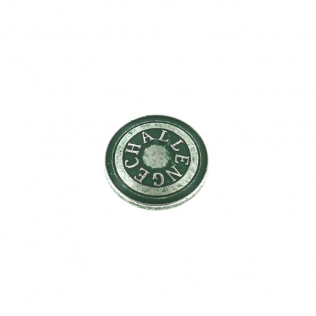 Bouton métal Challenge - vert
