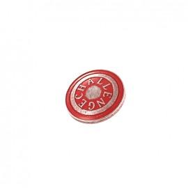 Bouton métal Challenge - Rouge