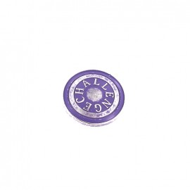 Bouton métal Challenge - violet
