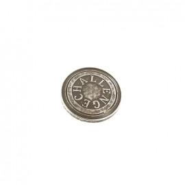 Bouton métal Challenge - gris