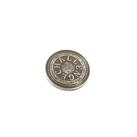 Metal button Challenge - grey
