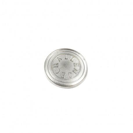 Bouton métal Challenge - argent