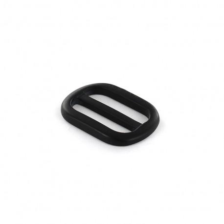 Boucle Ceinture polyester effet nacre - noir