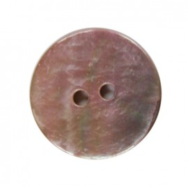 Bouton rond nacre rose 18 mm
