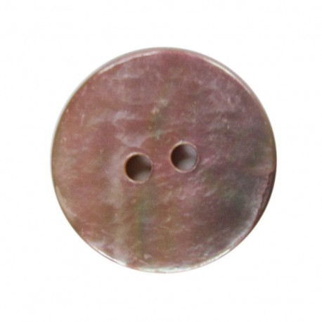Mother-of-pearl round-shaped button 18 mm - pink