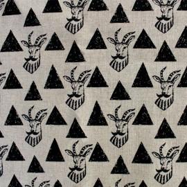 Tissu toile de coton Kokka Echino Impala - noir x 10cm
