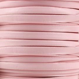 Lacette aspect cuir 5 mm - rose x 1m