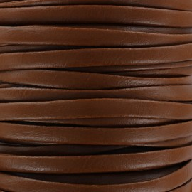 Lacette aspect cuir 5 mm - caramel x 1m