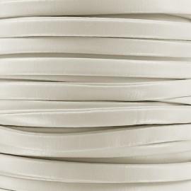 Lacette aspect cuir 5 mm - blanc x 1m