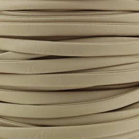Lacette aspect cuir 5 mm - beige x 1m