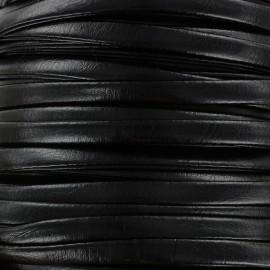 Lacette aspect cuir 5 mm - noir x 1m