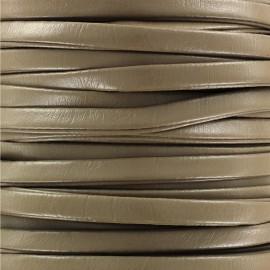 Lacette aspect cuir 5 mm - taupe x 1m