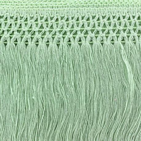 Trimming ribbon, crocheted lace 10cm - light green x 50cm