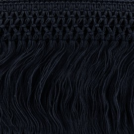 ♥ Coupon 110 cm ♥ Trimming ribbon, crocheted lace 10cm - navy