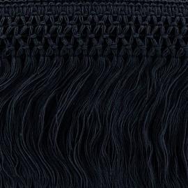 Ruban Galon Franges Dentelle au crochet 10cm - marine x 50cm