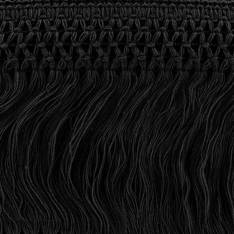 Ruban Galon Franges Dentelle au crochet 10cm - noir x 50cm