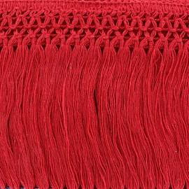 Ruban Galon Franges Dentelle au crochet 10cm - rouge x 50cm