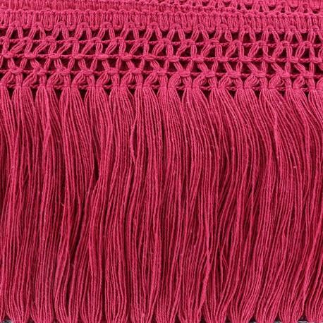Trimming ribbon, crocheted lace 10cm - rapsberry x 50cm