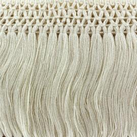 Ruban Galon Franges Dentelle au crochet 10cm - écru x 50cm