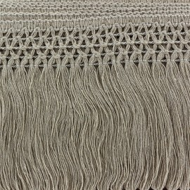 ♥ Coupon 55 cm ♥  Trimming ribbon, crocheted lace 10cm - taupe